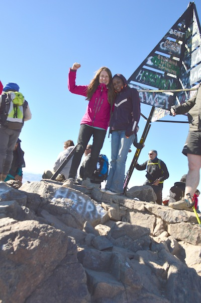 Grace and I at the peak of Jebel Toubkal