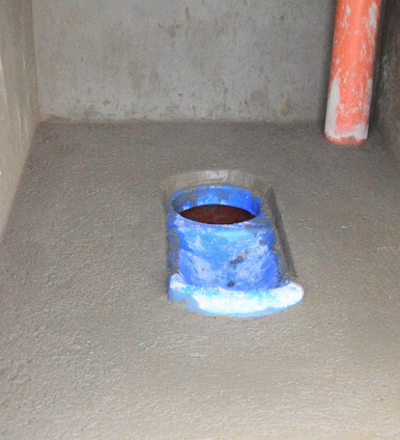An eco-toilet double-vault: The basic principle of an eco-toilet is to separate urine and feces.